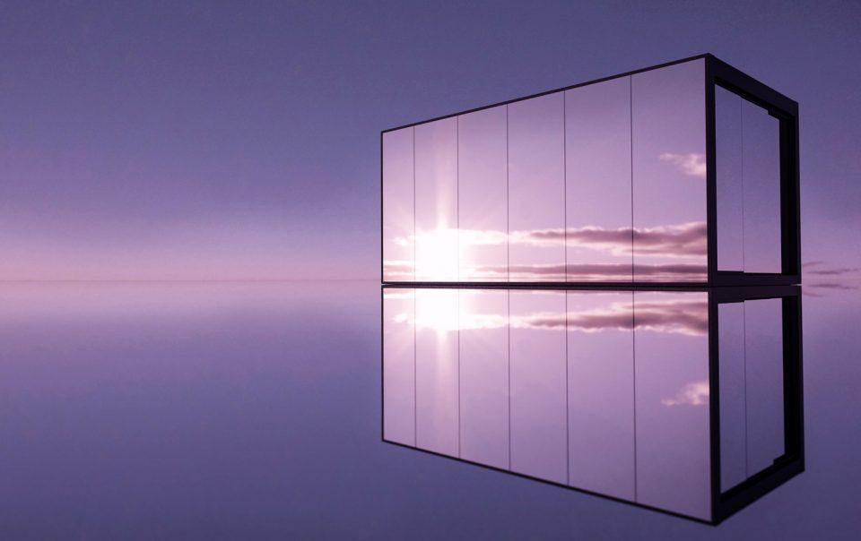 Pergola bioclimatica con vetrate a specchio connect pratic